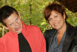 Jake borrows Denise's jacket for a goofy pic. Just another good relationship at CCBS.